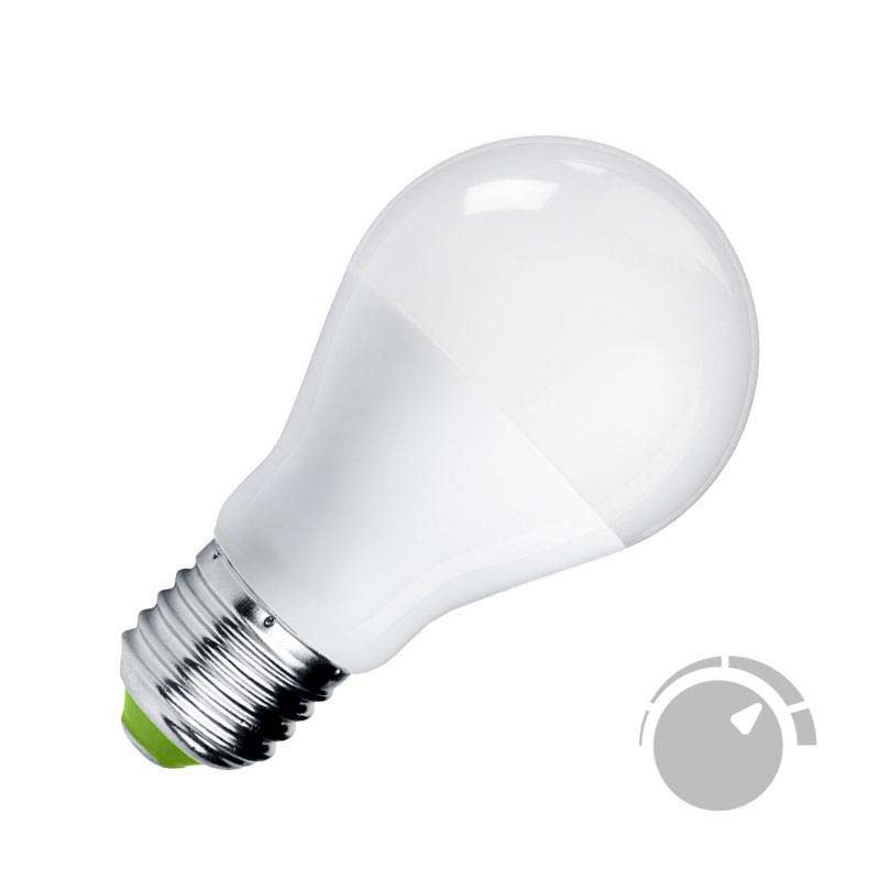 Bombilla LED E27, 240º, 9W, Regulable, Blanco neutro, Regulable